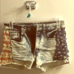 Mossimo high rise patriotic shorts